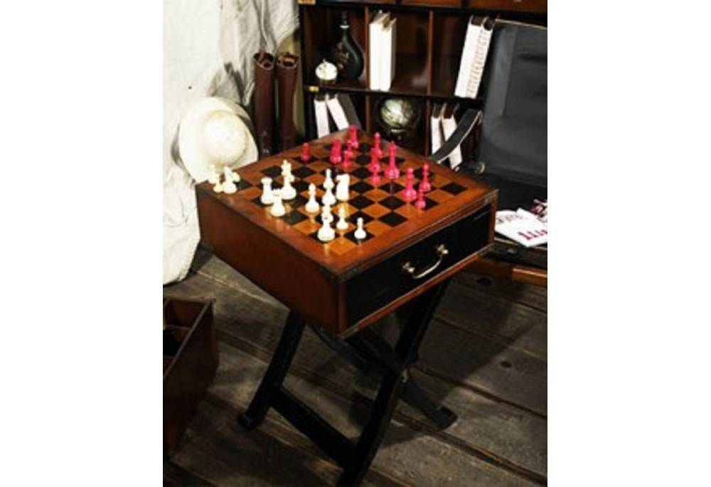 Grandmasters Box Wooden Chess Checkers Game Table