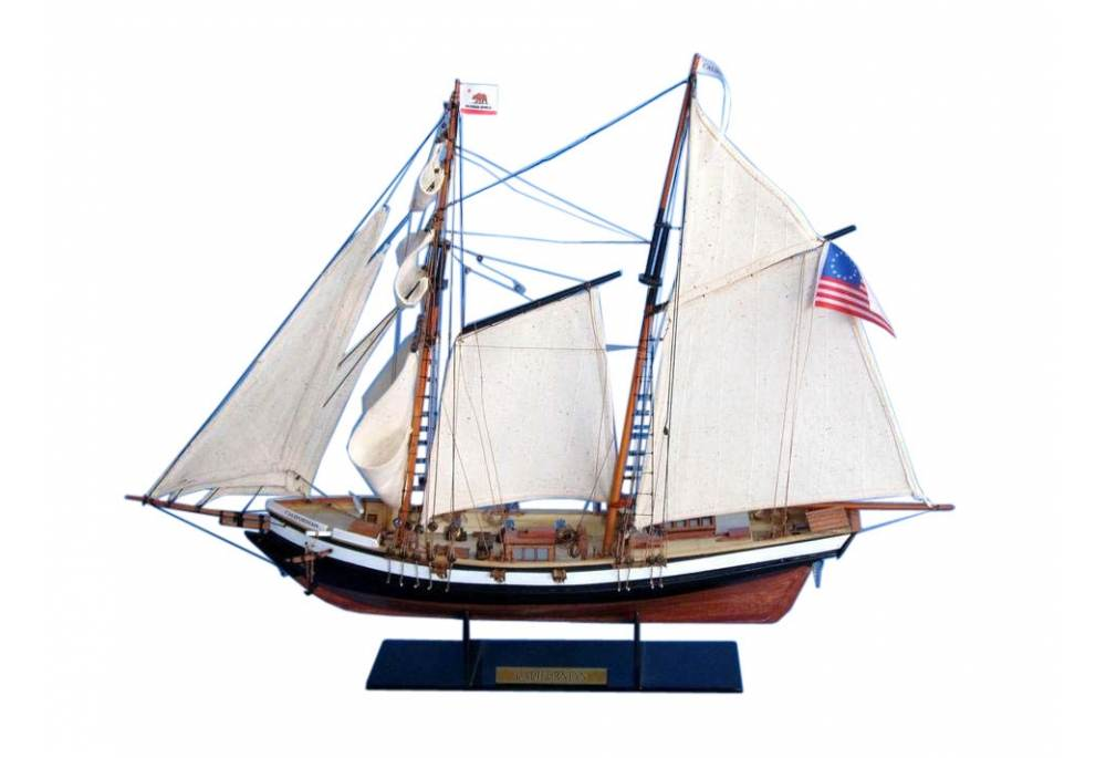 """tall kitchen table and chairs rustic bar topsail schooner """"californian"""" wooden model ship"""