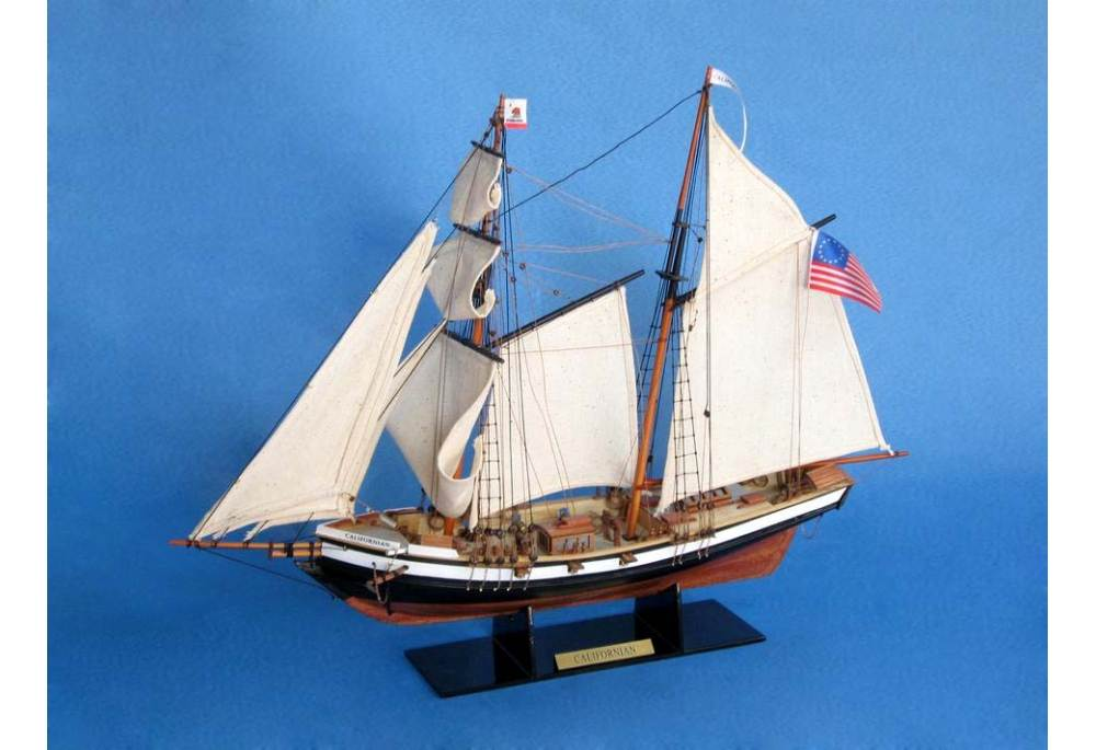 Topsail Schooner Californian Wooden Model Ship