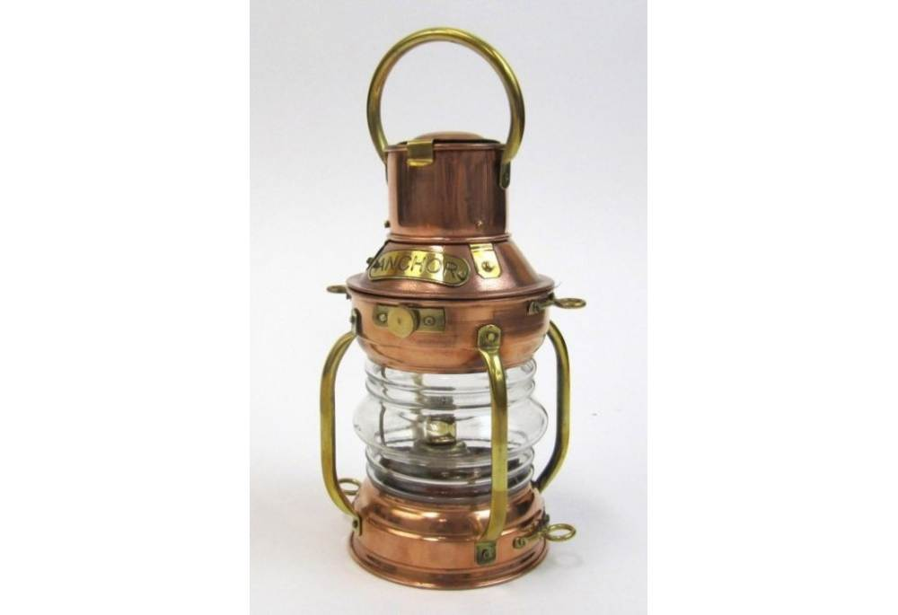 kitchen ceiling fans with lights metal table for copper ship light anchor lamp oil burner