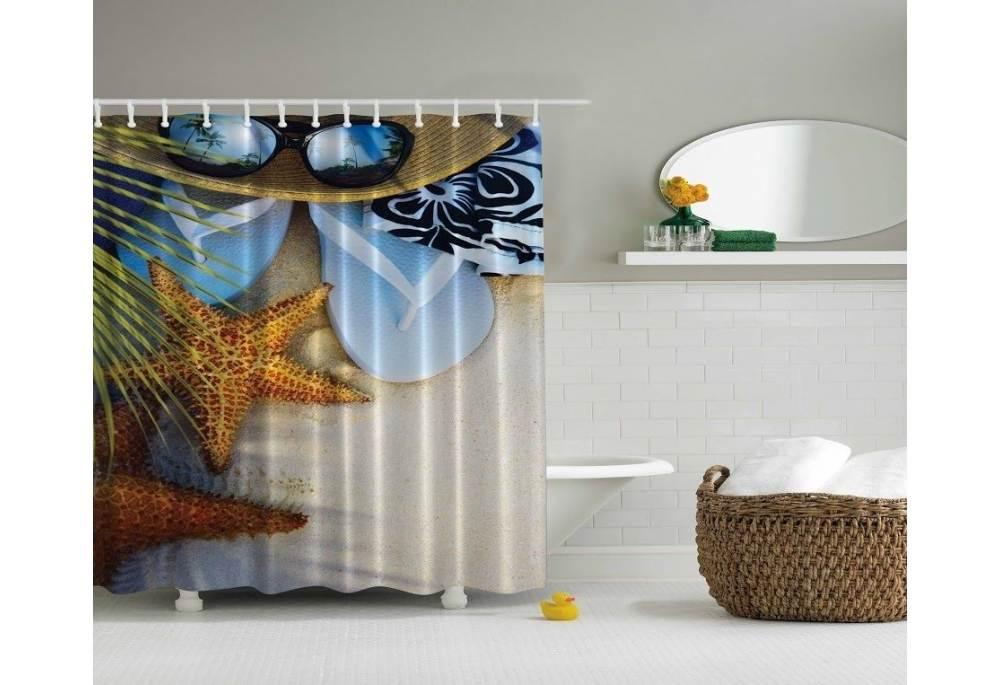 beach chairs on wheels knoll generation task chair tropical theme shower curtain