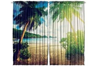 Tropical Island Curtain Panel Set