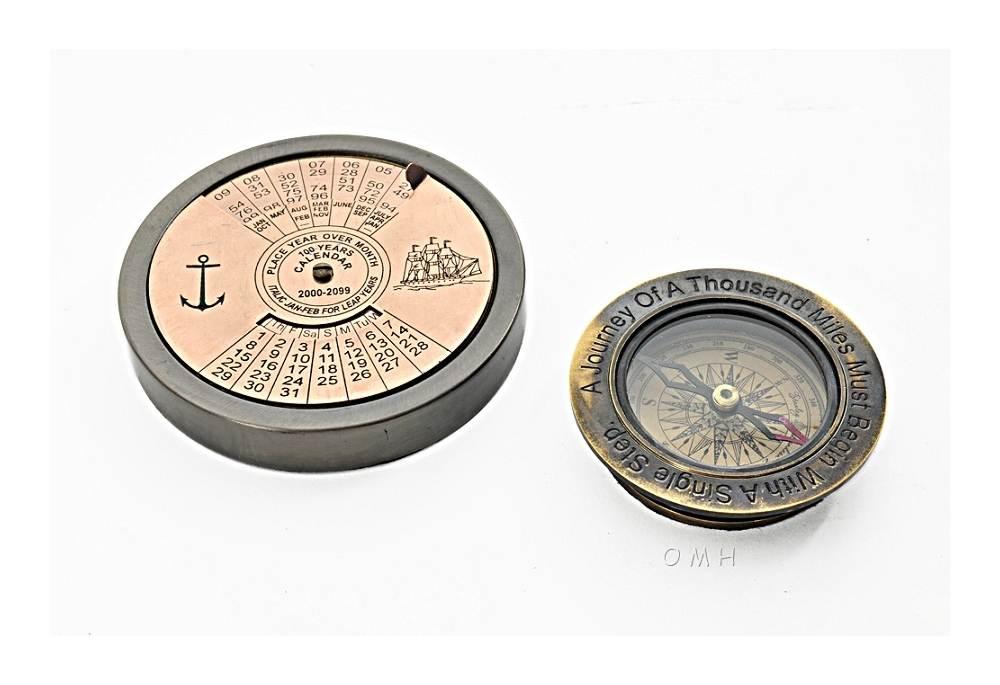 100 Year Calendar  Compass Set of 2
