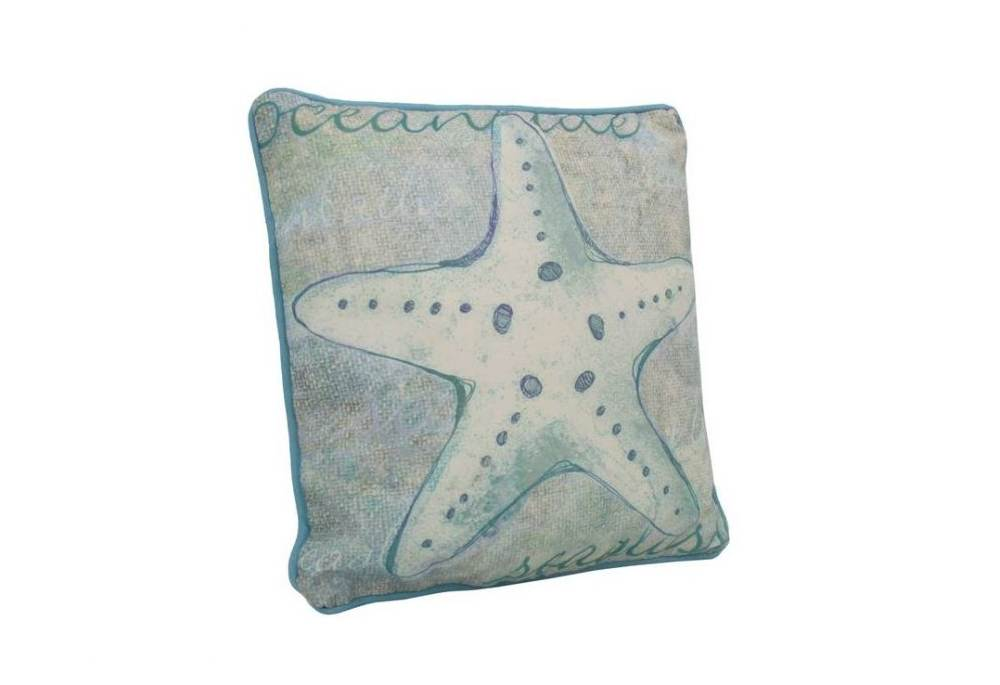 all weather garden chairs round microfiber swivel chair blue and white starfish decorative throw pillow