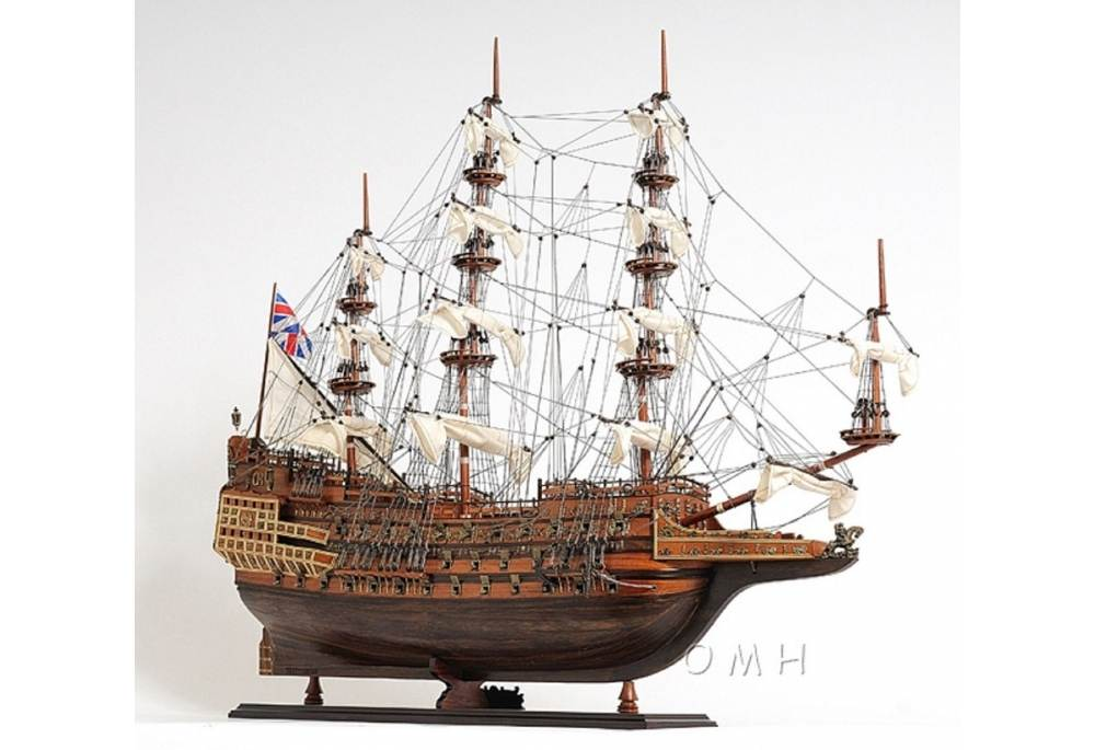 1600s Sovereign of the Seas Scaled Large Tall Model Ship