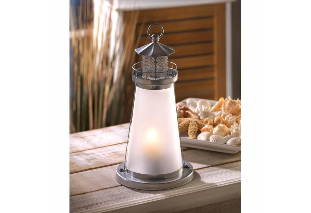 Lighthouse Candle Holder Lantern Coastal Decor