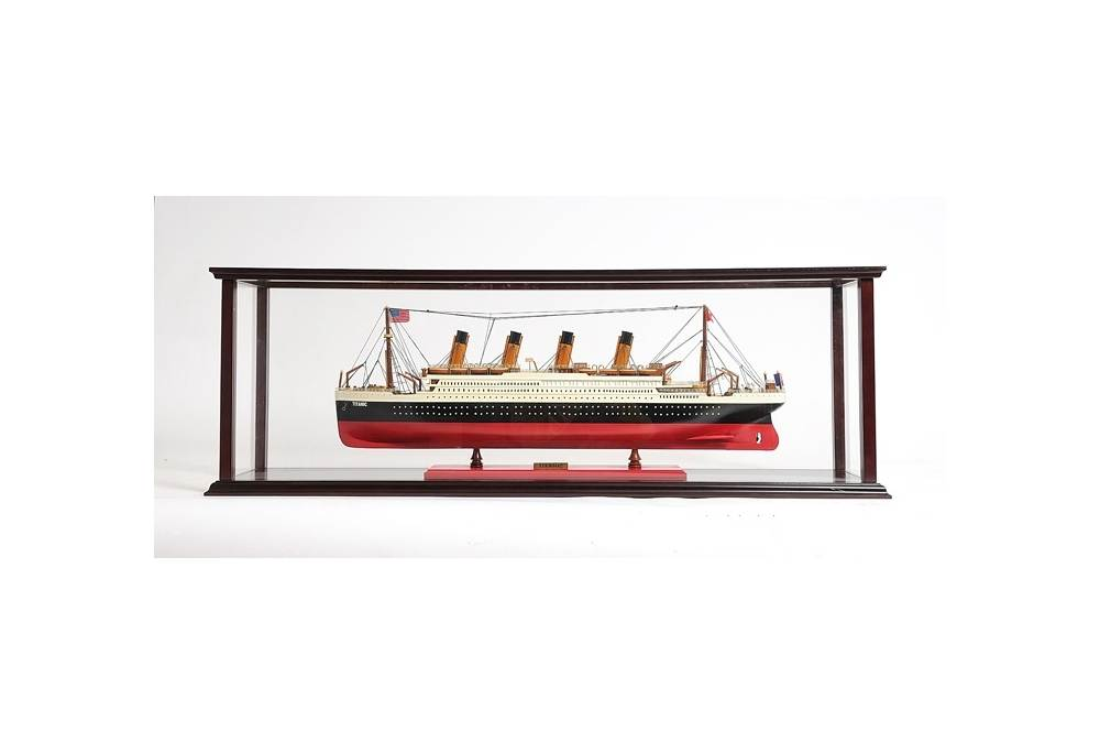 Large Display Case For Cruise Liner Model Ship
