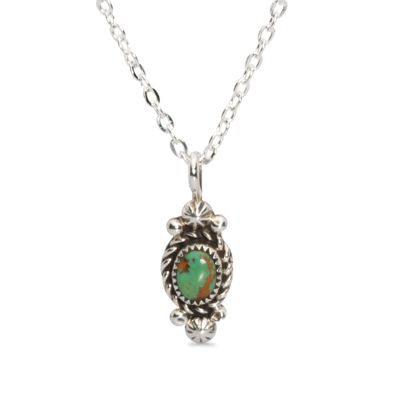 Simple One Stone Turquoise Navajo Necklace • Navajo Arts