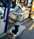 Women' s Hoodie Cotton Jacket Fluffy Long Sleeve Coat