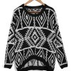Diamond Pattern O-Neck Long Sleeve Pullover Sweater