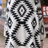 Morden Style Loose-Fitting Roman Geometric Pattern Batwing Sleeve Knitting Sweater For Women