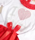 Girls I Love Santa Christmas Dresses TuTu Bowknot Clothes