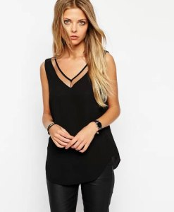 V-neck Camisole Tank Top (1)