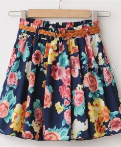Cute Above Knee Short Chiffon Skirt