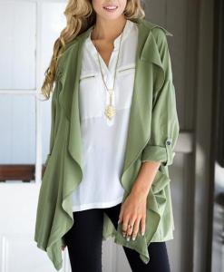 Fly Chiffon Casual Coat