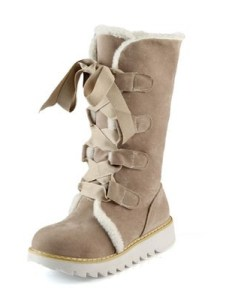 Lace-Up Platform Mid-Calf Snow Boots