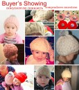 Toddler Beanie cap for 4 months to 3 years old girl