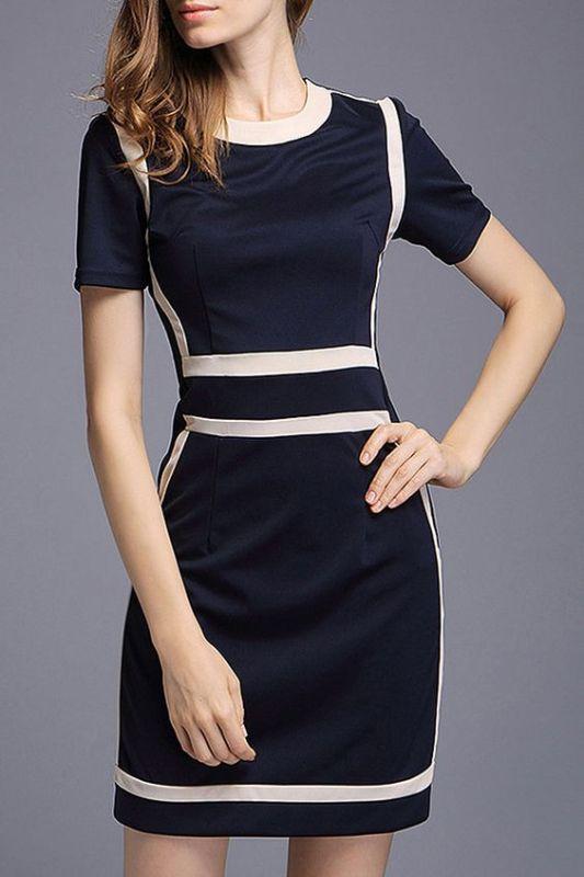 Color Block Contrast Mini Dress