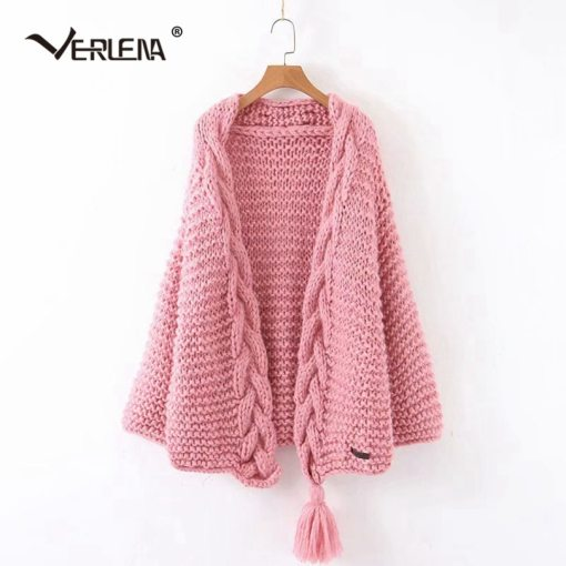 Loose Handmade Knitted Long Cardigan
