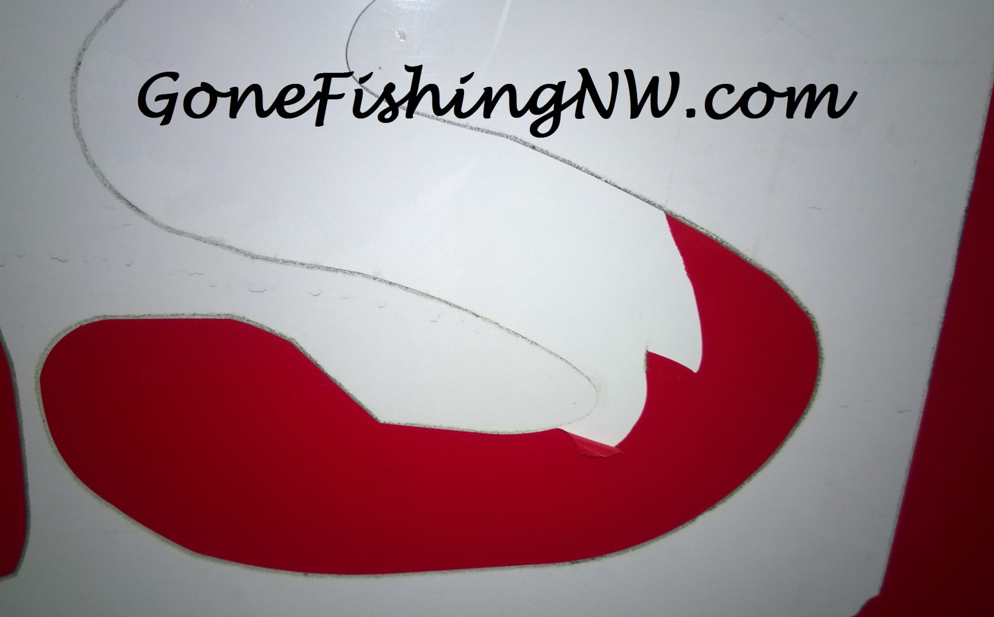 Removing Vinyl Boat Stickers Gone Fishing NW - Custom vinyl decals boat   removal options