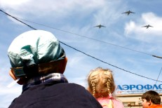 Planes Victory Day Moscow