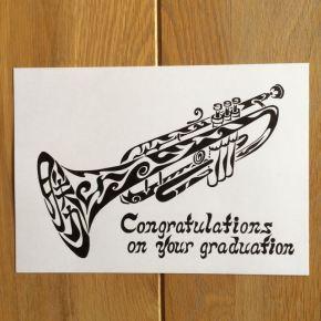 色々な使い道も!卒業、門出のお祝いにトランペットの絵のプレゼント