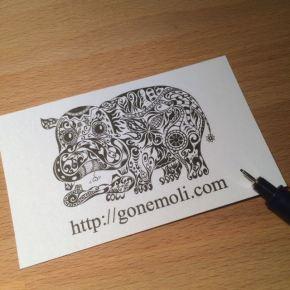 人とは違う変わった名刺にしたい!そんな方にオススメのアートな世界で一つの絵描きが描く名刺デザイン