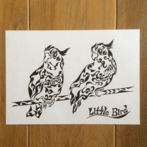 ご結婚式の記念にご両親に贈る!新郎新婦の名前が入った小鳥の夫婦の絵のプレゼント