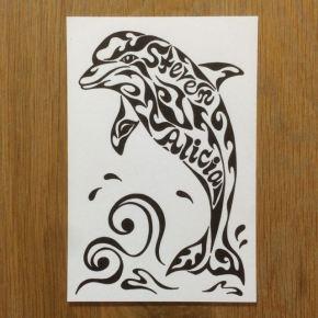 イルカの絵が欲しい!一匹でも家族もご要望に応じてオーダーメイドでお受けしております