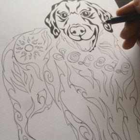 年度始めに気分を変えるインテリア!ペットや大好きな物をモチーフに模様で書く絵のオーダーメイド
