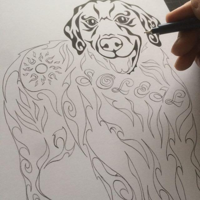 ラブラドール 愛犬 ペットの絵 似顔絵