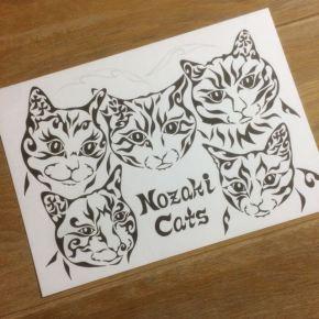 猫好きのお母さんに贈る!愛する飼い猫5匹をモチーフにした絵のオーダーメイド