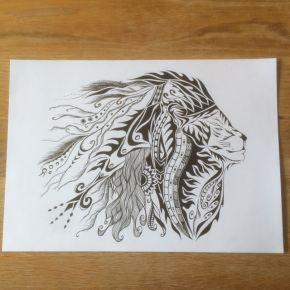 自分の作品と言える代表作を!「ライオン」をとにかく描いて模索!!