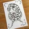 コザクラインコ ペットの絵 誕生日プレゼント インコ好き
