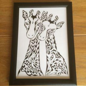 定番デザイン「キリンの夫婦」結婚祝いや新築祝い、彼氏彼女へのプレゼントに