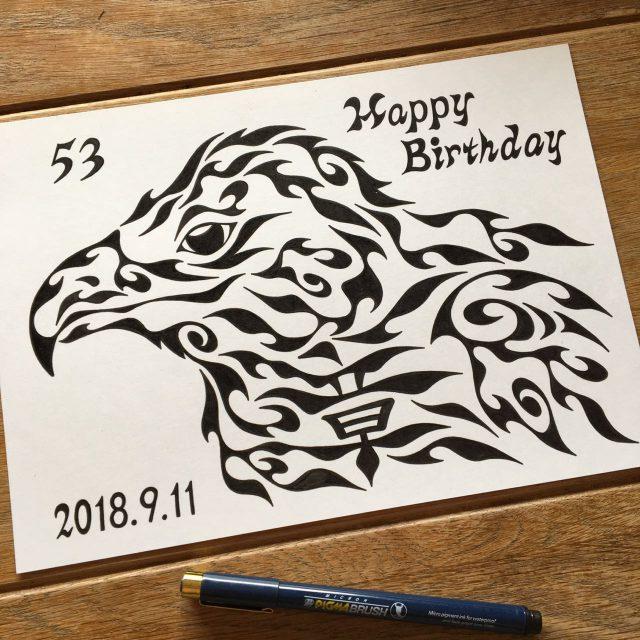 鷹,誕生日プレゼント,アート