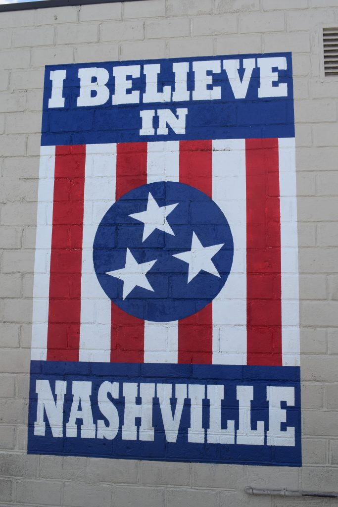 I believe in Nashville mural wall art graffiti