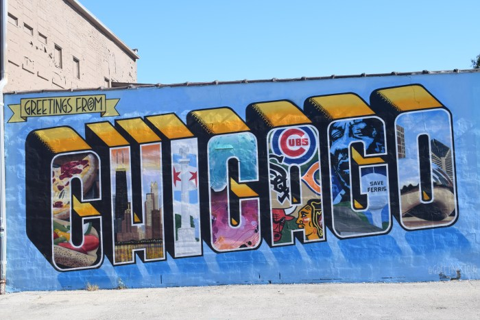 Greetings from Chicaco mural