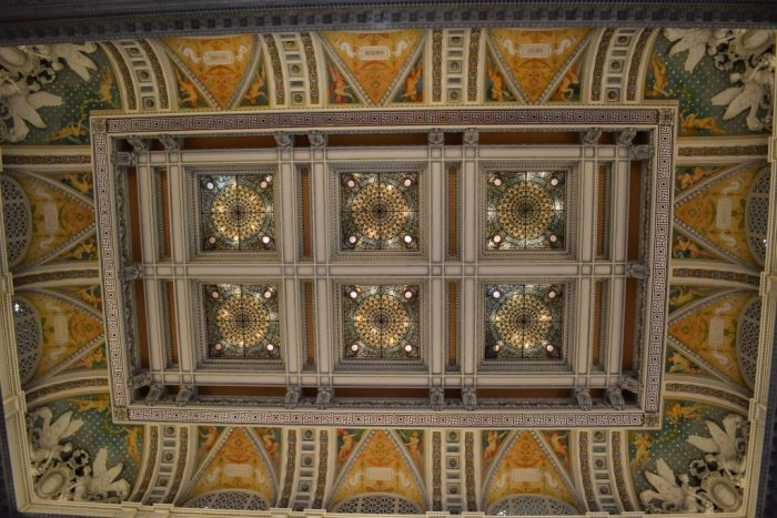 ceiling at the Library of Congress