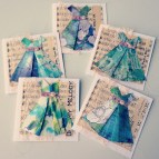 origami dress collage cards - rita summers 2013