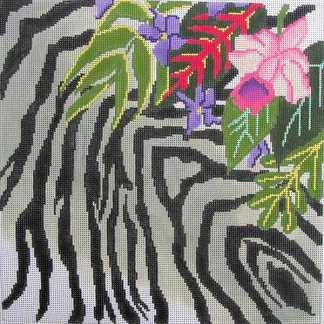 Zebra Skin and Floral