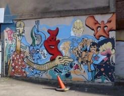 Belfast graffiti mural