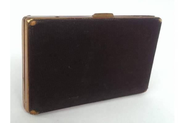 Vintage Ladies Jewelry Slim Sized Cigarette Case Brass