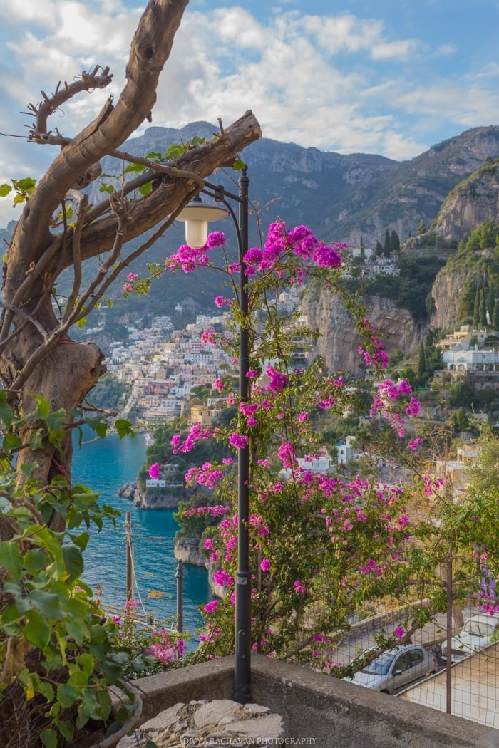 First glimpse of Positano from Nocelle