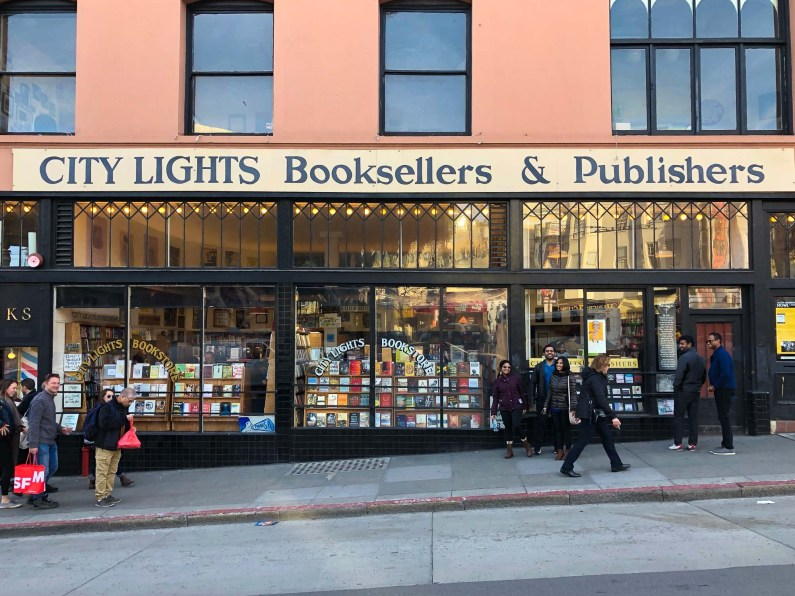 City Lights Booksellers and Publishers, Gems of San Francisco, USA -- gonewithawhim.com // Postcards from San Francisco, California
