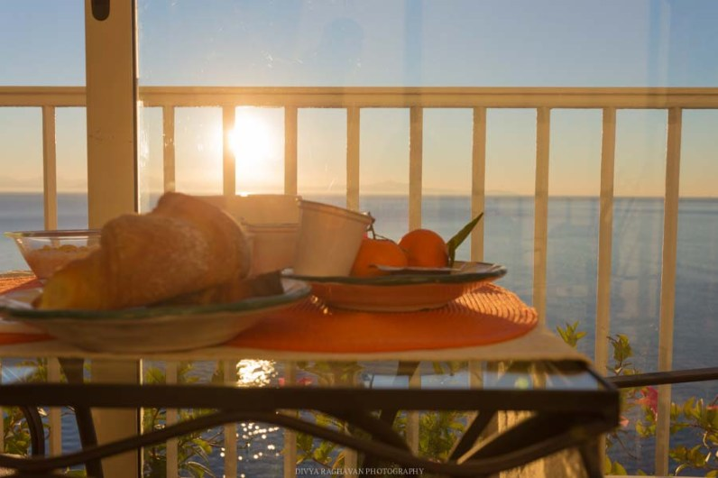 Breakfast with a view to kill for.