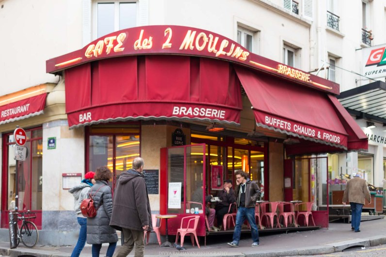 Cafe de 2 moulins, Amelie, Montmarte, Paris, France || Paris in two days, a complete guide and itinerary to the city of lights in France.