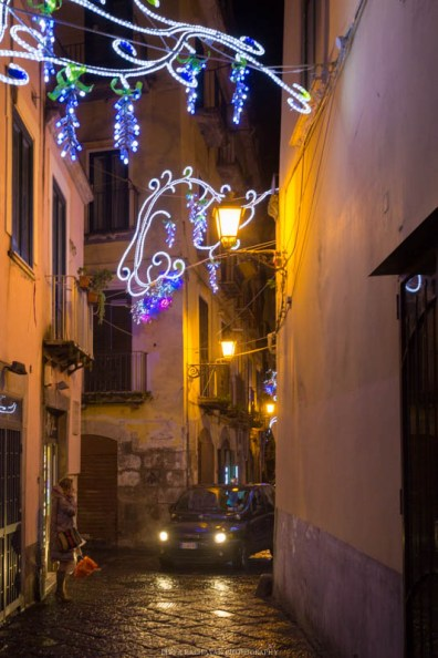 Christmas lights, Salerno, Italy