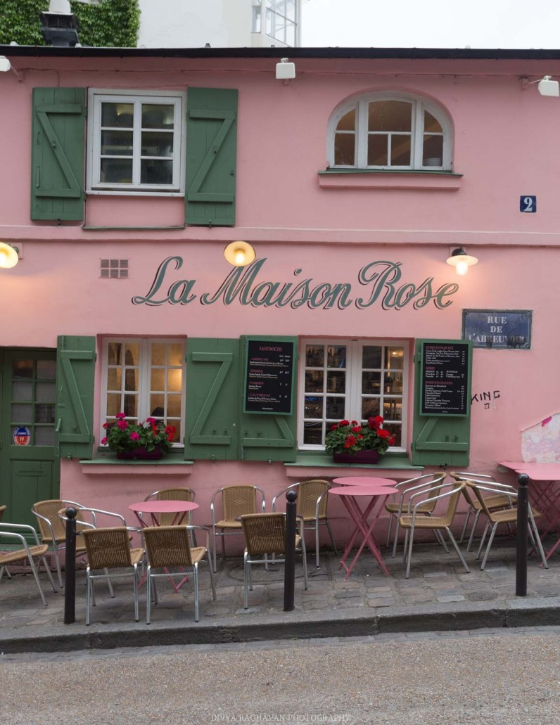 La maison Rose, Montmarte, Paris, France || Paris in two days, a complete guide and itinerary to the city of lights in France.