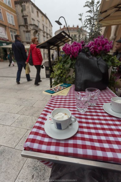 Croatian kava or coffee at a square in Split // Photos and stories from a week in Croatia // Memories from the Balkans // Dubrovnik, Split, and Zagreb